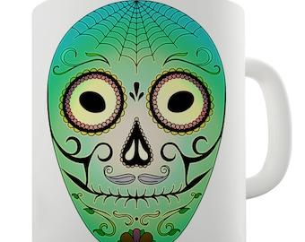 Day of the Dead Mask Ceramic Novelty Mug