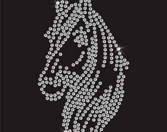 Horse Equestrian Rhinestone Applique
