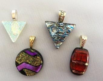 Fused dicroic glass pendants