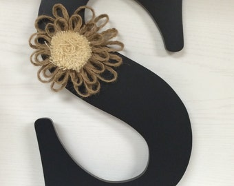 "Black Monogram ""S"" with Embellishment 