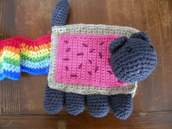 Nyan Cat Scarf by StitchedInTreasures on Etsy