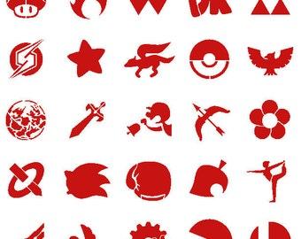 Super Smash Bros. Stencil