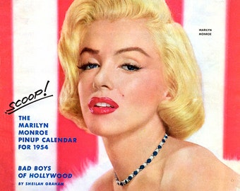 Marilyn Monroe on the December 1953 Cover of Photoplay Magazine - 8X10 or 11X14 Photo of Cover (ZY-241)/(LG-080)
