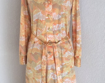 Vintage 1970s Country Miss Polyester Dress size 10