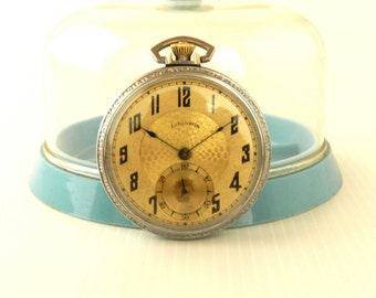 1923 Illinois 17 jewel open face pocket watch