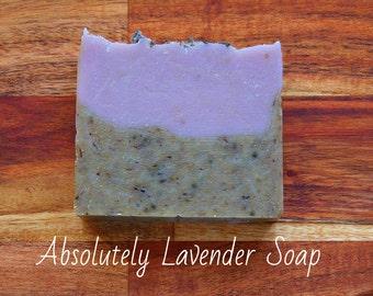 SOAP - Absolutely Lavender Soap-Provence Soap - Natural soap, Organic soap, Vegan soap, Jewish soap, Artisan soap, Handmade soap