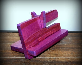 Purple Docking Station, Handmade, Mothers Day Gift.