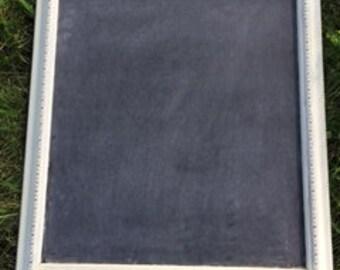 Ivory and black antique chalkboard frame