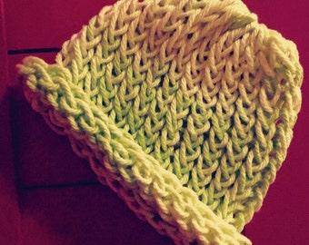 Green Knitted Newborn Hat