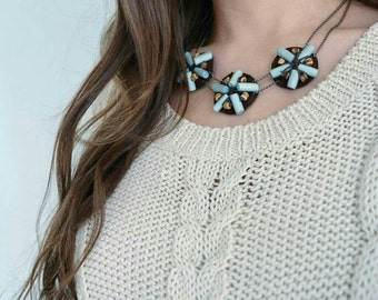 Wood & leather flowers!