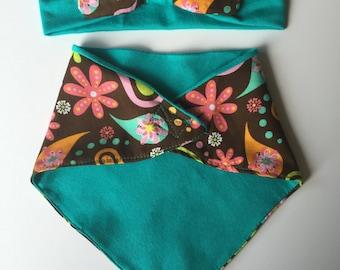 Matching Baby Headband & Bandana Bib