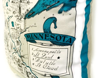 Minnesota  State Pillow Cover with Insert