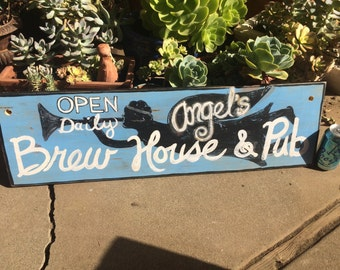 Hand Painted NOT Stenciled Reclaimed Wood Sign