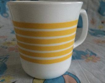 Vintage Corring Yellow Striped mug