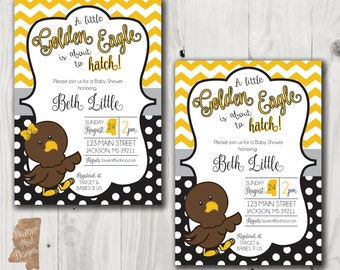 Baby Shower invitation - Southern Miss Golden Eagles