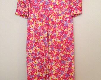 Handmade floral ruffle dress, junior size S