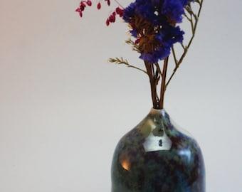 ceramic vase, hand made ceramic,small vase, ceramic centerpiece, pottery made vase, milky way vase