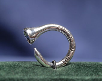 "Bonòra ""Brunito"" - Ring ""Burnished"" in Silver - Golf & Sports Lucky Ring by FIELDS OF JOY®"