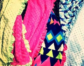 Soft Minky Baby Blankets