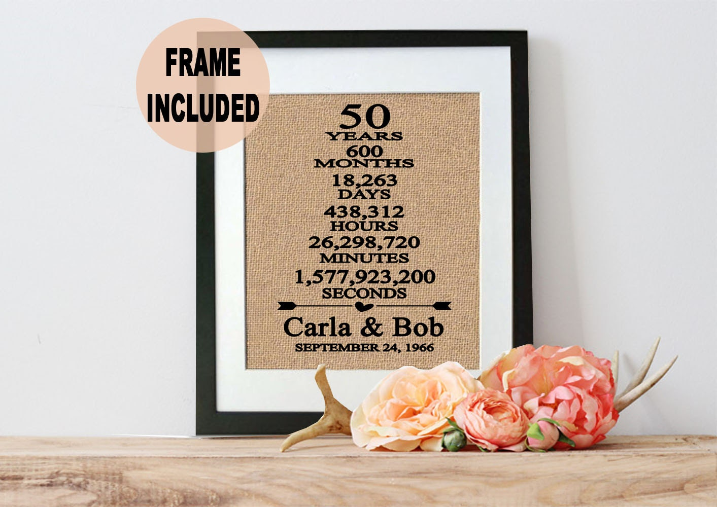 Fiftieth Wedding Anniversary Gifts: 50th Wedding Anniversary Gift/ 50th Anniversary Gift/ 50 Years
