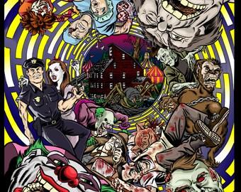 23rd Annual Haunted Village Print