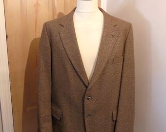 Vintage Dunn & Co Men's Brown Wool Blend Jacket, Size 44