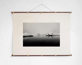 Sea Ice Photo, Minimalist Photo, Sea Ice Artwork, Sea Ice Print, Sea Ice Poster, Sea Ice Digital Print, Landscape Photo, BW Print