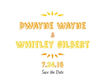 The Whitley: Customizable Save the Date & Wedding Invitation (Digital Download)