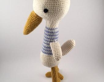 Crochet  Plush Bird, new baby, baby shower gift