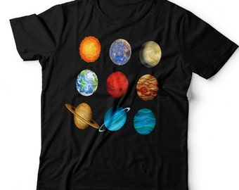Kids Planet T-Shirt. All Planets.Space. Solar System