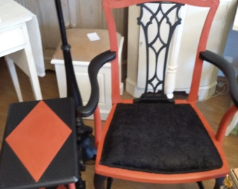 One off Vintage Chair and side table