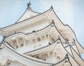 Japan Castle Photo, Large Wall Art, Black White Canvas, Travel Photography, Japan Unique Print, Wall Art Decor, Home Decor Ideas