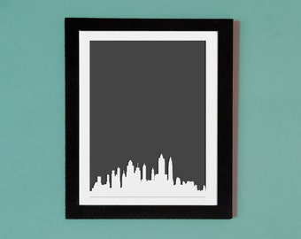 New York City Skyline Picture Frame Mat