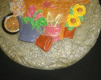 Hand painted Garden ceramic