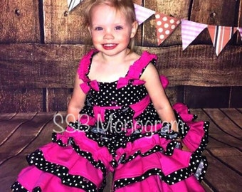 Over the top Minnie Mouse themed birthday outfit- Minnie Mouse Birthday Outfit- Over the top outfit- ruffle minnie mouse outfit- custom