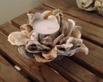 Handcrafted Oyster Shell Votive Holder