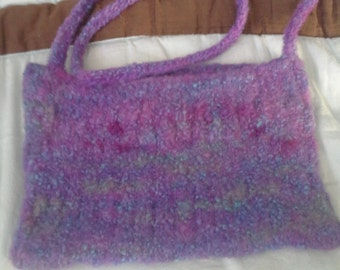 Felted Purple Purse