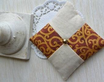 Linen lavender sachet, czech bead