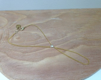 Sterling Silver triangle & 14 k gold plated chained hand harness