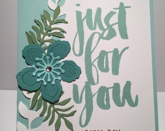 Just For You Card//Handmade Card