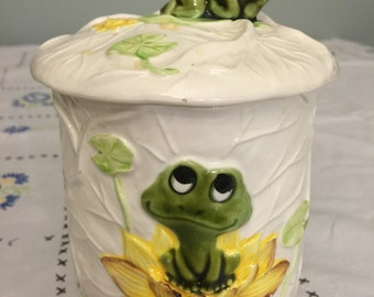 Sears Neil the Frog Small Canister