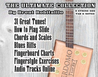 How to Play Cigar Box Guitar - The Ultimate Collection - Book - Music - Tab - Chords - Scales - Riffs