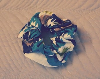 Abstract Blue Scrunchie