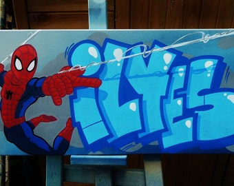 Graffiti birthday etsy - Graffiti prenom gratuit ...