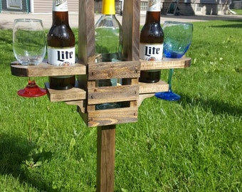 Backyard Beer and Wine Caddy