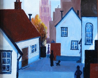 The Village, Village scenes, Streets in Europe, Villages Cottages Impressionistic, Houses in Europ, European streets, Village churches