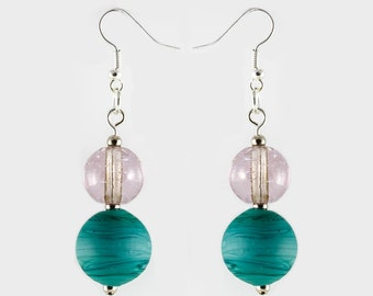 Handmade Murano glass earrings