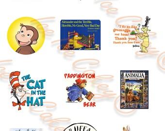 Bookweek Cupcake Toppers - Version #2