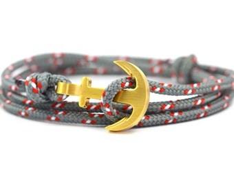 Anchor bracelet shark / gold