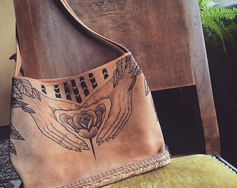 Bag / pouch renovated Suede, customized